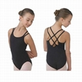 Child ballet leotard with double straps camisole 3