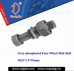 Grey phosphated Fuso Wheel Hub Bolt