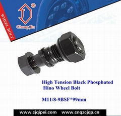 High Tension Black Phosphated Hino Wheel Bolt