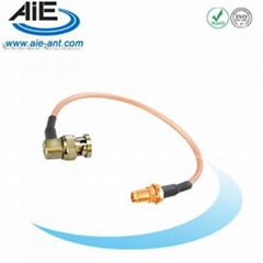 BNC RA male - SMA female cable assembly