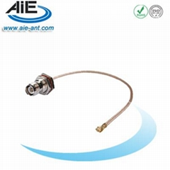 RP TNC blukhead female U.FL cable assembly