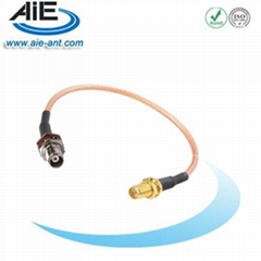 TNC blukhead female - RP SMA female cable assembly