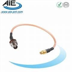 TNC blukhead female- MCX straight male cable assembly