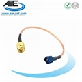 Brown fakra - SMA male cable assembly