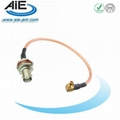MCX right angle male - BNC female cable assembly