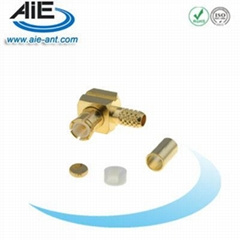 MCX Male Right Angle Crimp Connector for RG174/316/188 LMR100 Cable