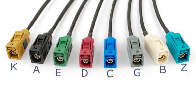 水藍色FAKRA公+焊點 連接線 2