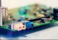 水藍色FAKRA公+焊點 連接線 4