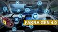 水蓝色FAKRA母头 连接线