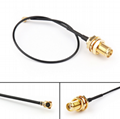 RF SMA Female Straight Bulkhead to u.fl/ipex  1.13/1.37/0.81 Jumper  Cable