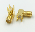 Coax Connectors Right Angled PCB Mount Female SMA Connector