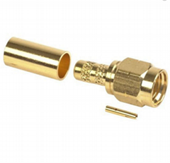 RP SMA Plug crimp Connector for RG58 LMR195 cables