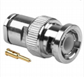 BNC Male clamp connector for RG58 LMR195