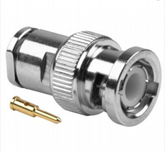 BNC Male clamp connector for RG58 LMR195 cables