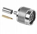 Type N Male Crimp connector for RG58U