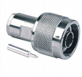 N Male Clamp Connector for RG58 LMR195 cables