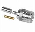 Type N Female crimp connector for RG174