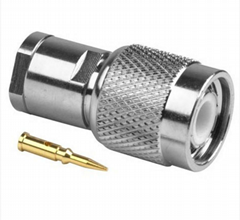 TNC Male Clamp Connector for RG58 LMR195 cables