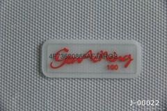 硅膠商標硅膠熱轉印