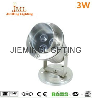 304 Stainless Steel 12V 24V IP68 LED Underwater Light Mini Swimming Pool Lamp 1W  1