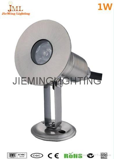 304 Stainless Steel 12V 24V IP68 LED Underwater Light Mini Swimming Pool Lamp 1W  2