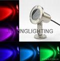 304 Stainless Steel 12V 24V IP68 LED Underwater Light Mini Swimming Pool Lamp 1W  3