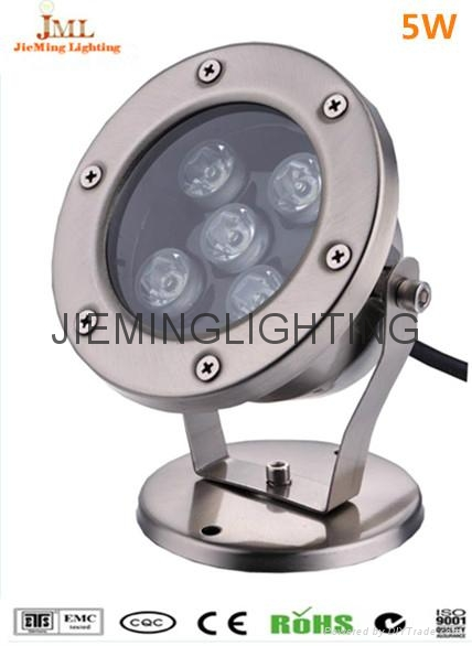 304 Stainless Steel 12V 24V IP68 LED Underwater Light Mini Swimming Pool Lamp 1W  4
