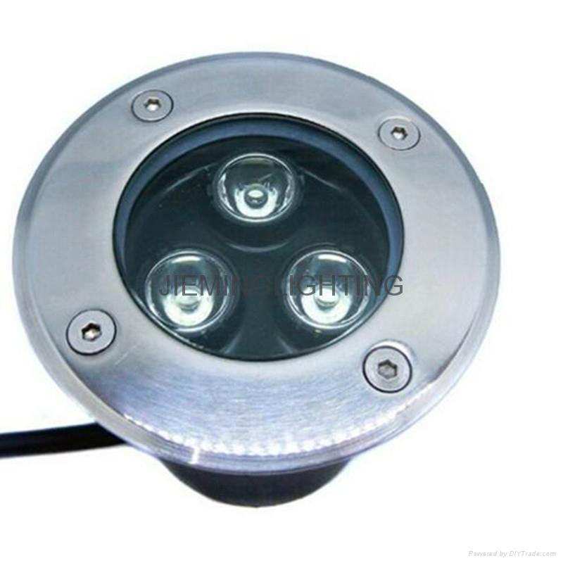 LED 圓形地埋燈 3W  85-265VAC DC12V 24V 紅光 藍光 綠光 RGB七彩 全彩  白光  2