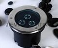 LED 圓形地埋燈 3W  85-265VAC DC12V 24V 紅光 藍光 綠光 RGB七彩 全彩  白光  1