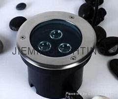 LED 圓形地埋燈 3W  85-265VAC DC12V 24V 紅光 藍光 綠光 RGB七彩 全彩  白光