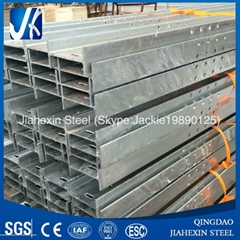 Custom perforated galvanized H beams for construction