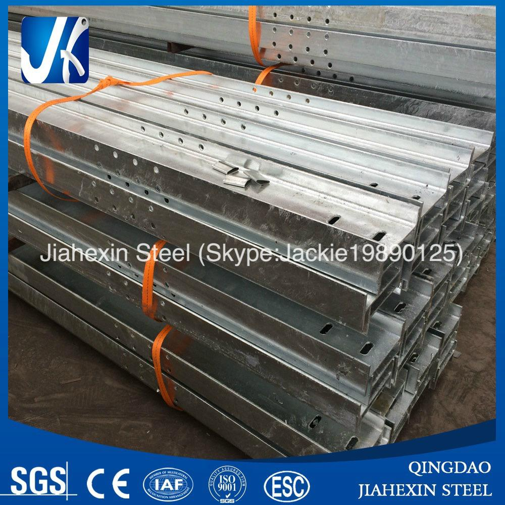Custom perforated galvanized H beams for construction 4