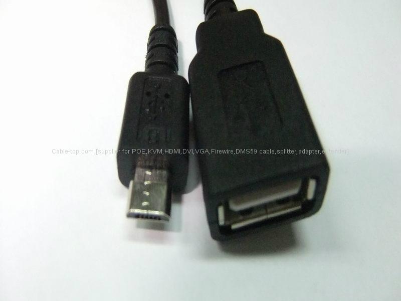 Micro USB 手机平板OTG数据线 2
