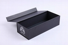 high quality black paper wine box