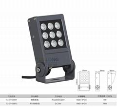 拓龙新款结构防水IP66led投光灯