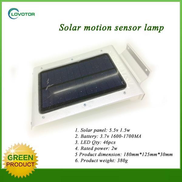 2015 new waterproof led solar motion sensor light 3