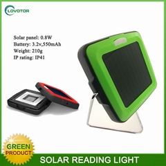 Green energy portable solar read lamp with mobile charging output