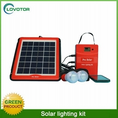 5W portable home use mini led solar light kit with USB charging port