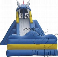 Outdoor PVC inflatable water slide for sale