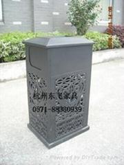 欧式铸铝垃圾桶