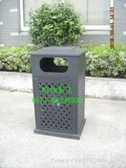 网格铸铝垃圾箱