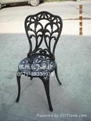 铸铝家具一桌两椅