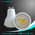 gu10 dimmable cob led spotlight 5