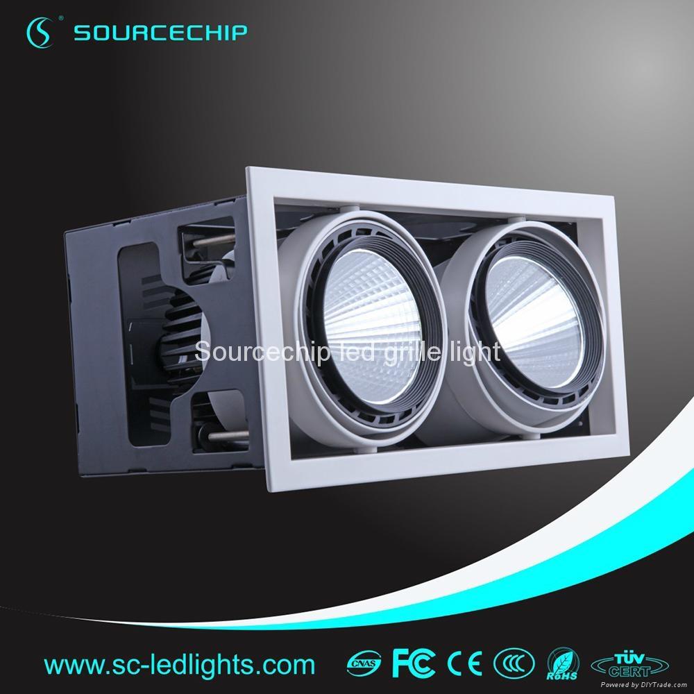 2*30W adjustable cob grille light  1