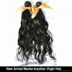 5A Grade natural wave brazilian human hair