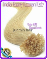 5A Grade 100% remy hair clip on human hair extension
