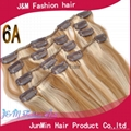 5A grade 100% virgin remy hair clip on