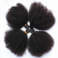 Wholesale Virgin Hair Mongolian Afro Kinky Curly 6A Grade 100% Human Hair Weft