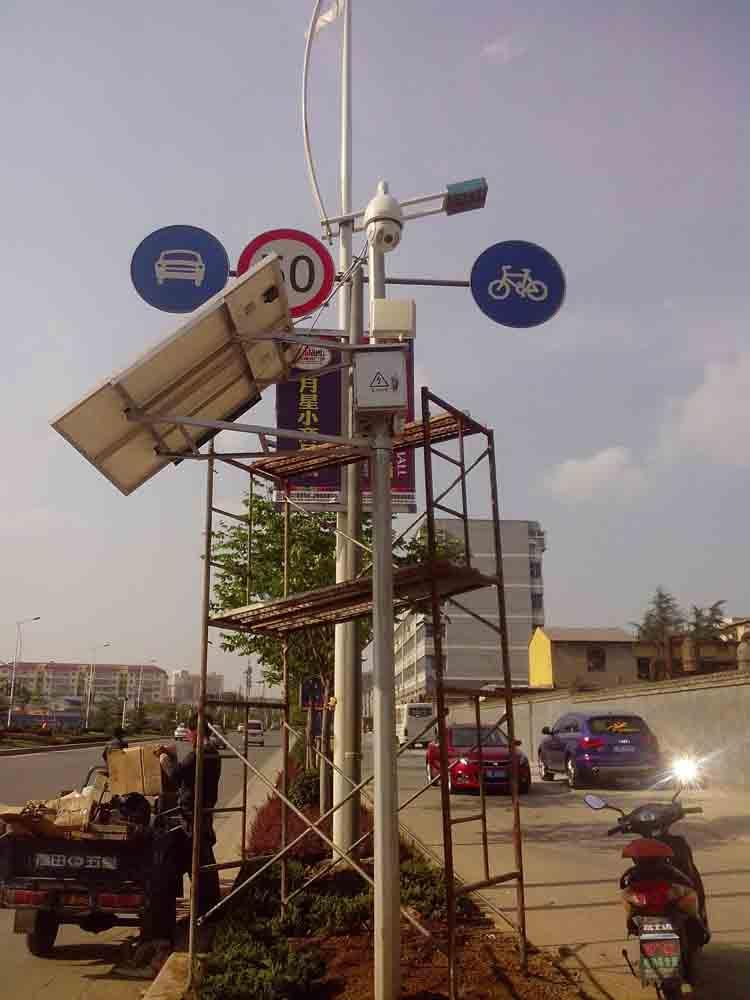 太阳能监控道路视频球机供电系统 4