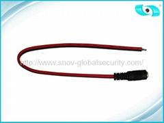Female DC CCTV Power Connector , 5.5 2.1 mm DC Plug
